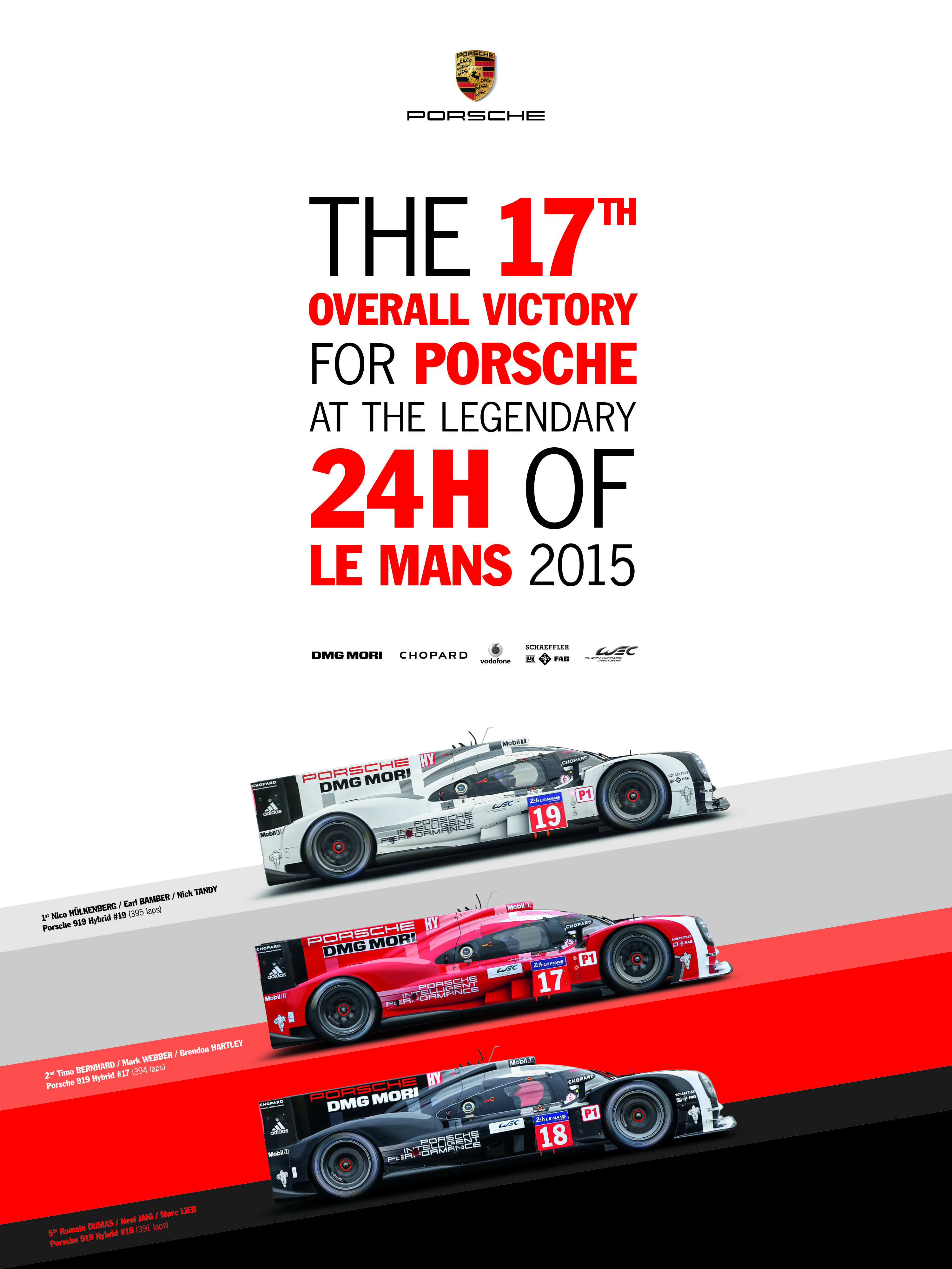 porsche have maintained their tradition of releasing a poster to celebrate their le mans wins. Black Bedroom Furniture Sets. Home Design Ideas